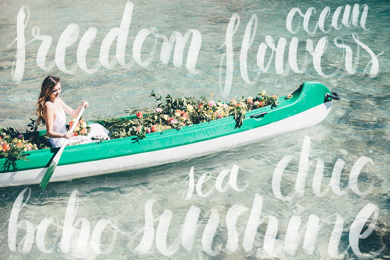 Summer Ibiza Wedding in a Canoe of Flowers {Lovers Love Loving}