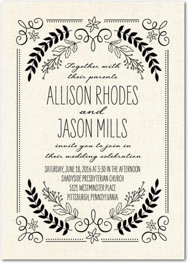 country wedding invite wording