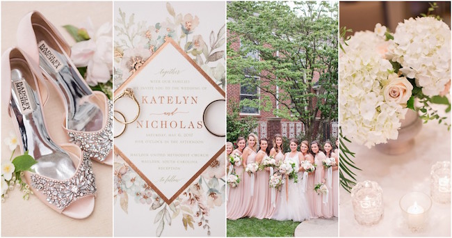 Swoonworthy Secret Garden Ivory Blush Pink and Gray Wedding