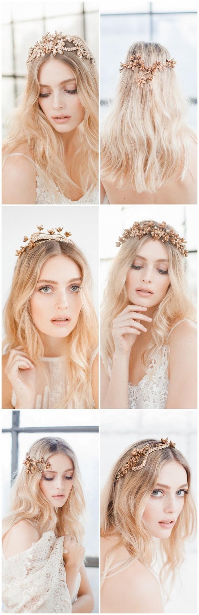 Swoon over jannie baltzer s wild nature bridal headpiece collection - Jannie Baltzer Wild Nature Bridal Headpiece Collection 2016 Sandra Aberg Photography