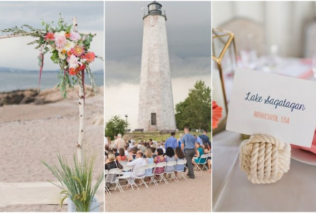Whimsical Lighthouse Wedding Connecticut {Daphne and Dean Photography}