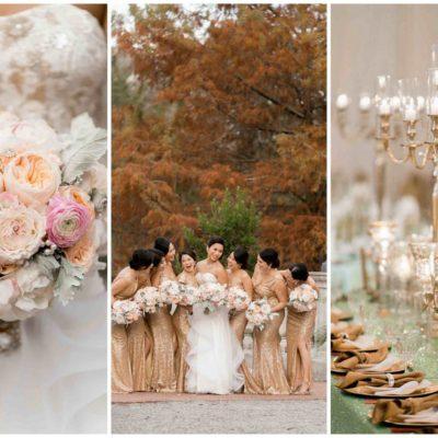 Luxurious Gold, Blush + Mint Wedding {Arte De Vie Photography}