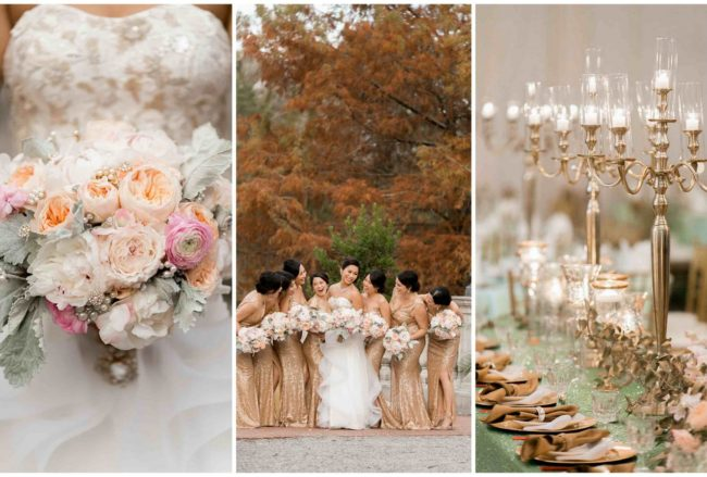 Luxurious Gold, Blush + Mint Wedding {Arte De Vie Photography}
