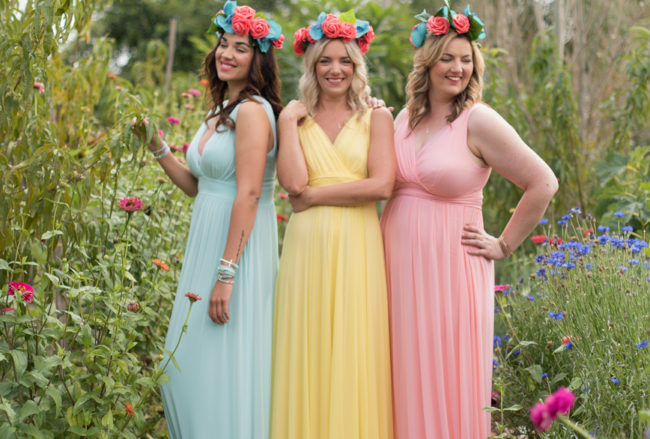 Beautiful Mix and Match Spring Bridesmaid Dresses