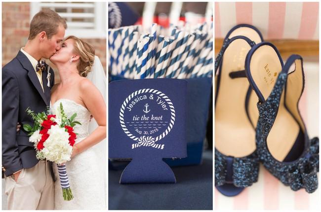 Stylish Nautical Wedding with Kate Spade Details {Jami Thompson Photography}