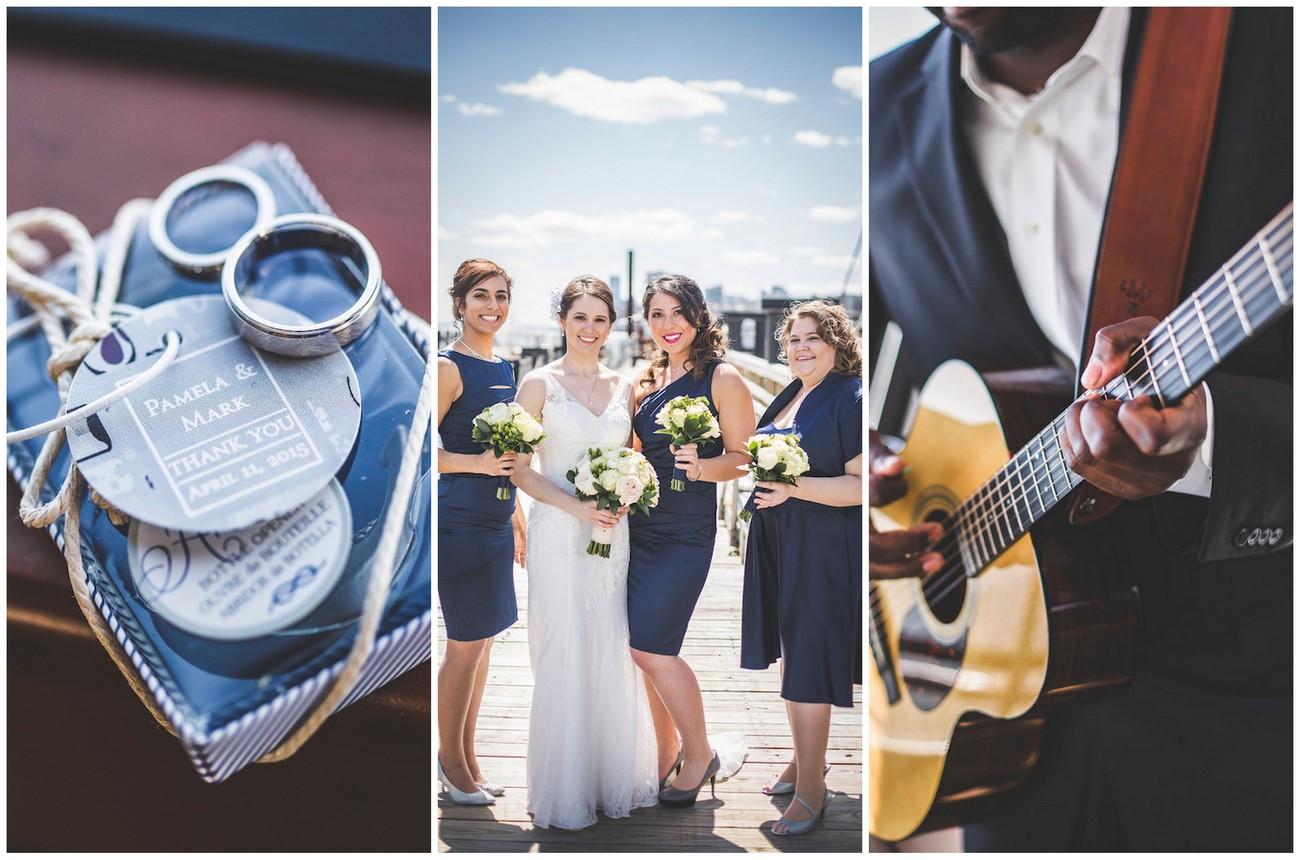 Nautical New York harbor yacht wedding {Lauren Cowart Photography}