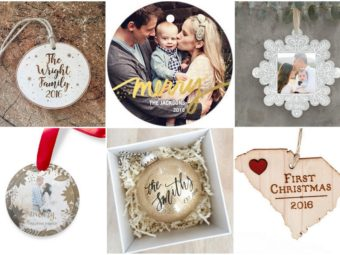 Beautiful Customized, Keepsake Newlywed Christmas Ornaments to Adorn Your Tree