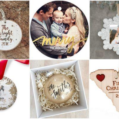 Beautiful Customized, Keepsake Newlywed Christmas Ornaments to Adorn Your Tree