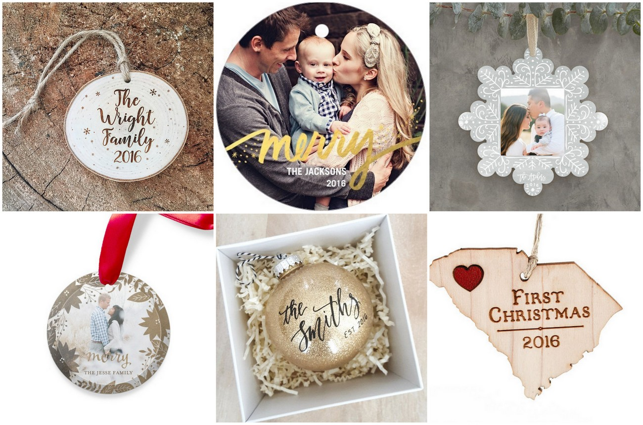 Newlywed Christmas Ornaments