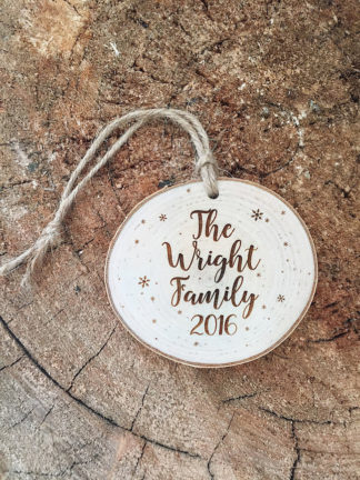 Beautiful Customized Keepsake Newlywed Christmas