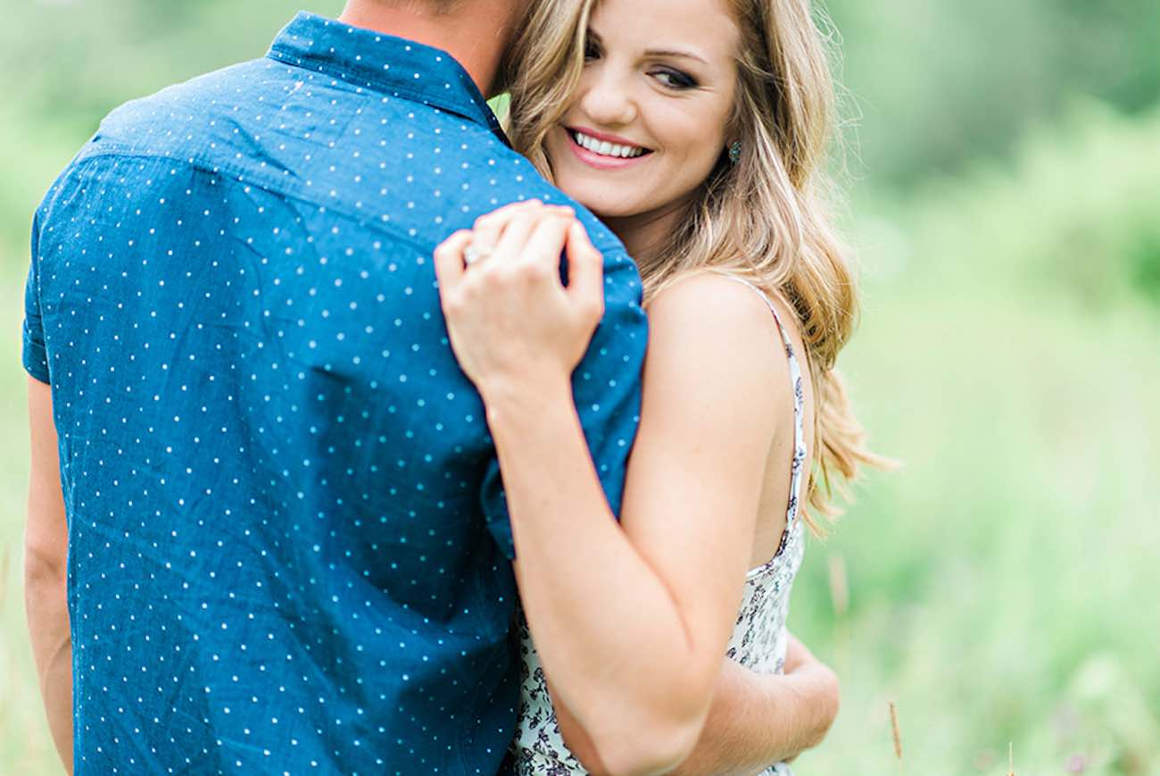 Outdoors Nova Scotia field and woods engagement shoot | Candace Berry Photography