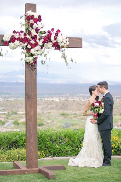 Intimate Outdoor Marsala and Burgundy Wedding {Melissa Jill Photography}
