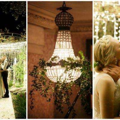 Mesmerizing, Twinkling Outdoor Night Wedding Ceremony {Nola Photography}