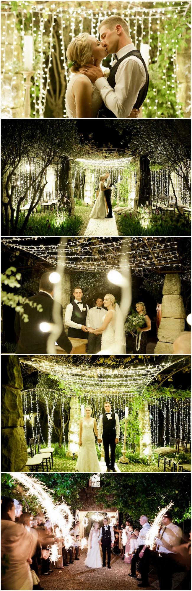 Outdoor Night Wedding