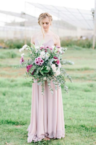 Perfectly Pretty Pastel Flower Farm Engagement {LF Photography}