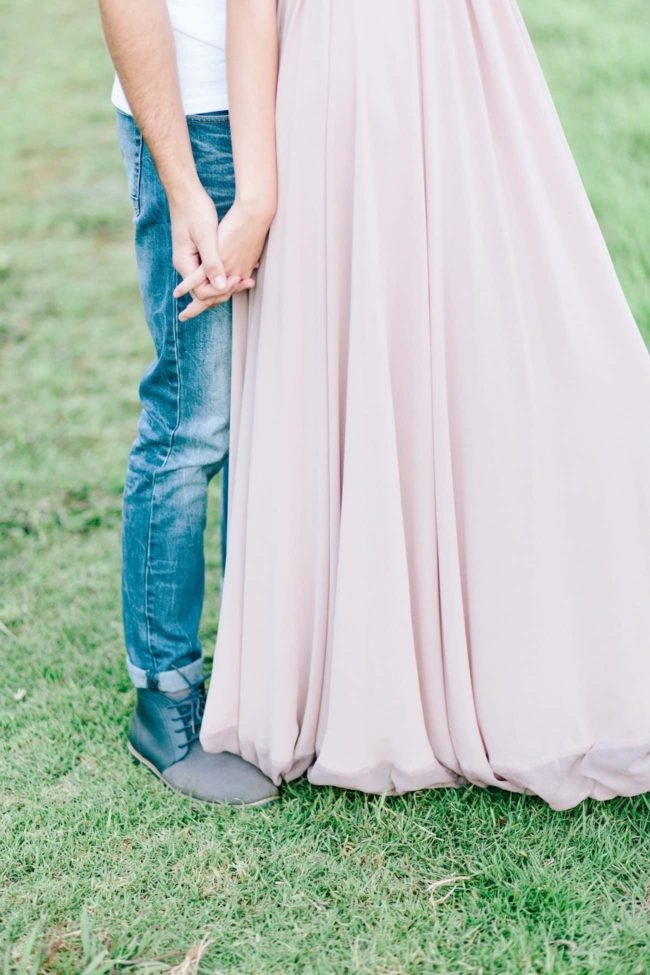 Perfectly pretty pastel flower farm engagement photo shoot ideas. Pics: LF Photography