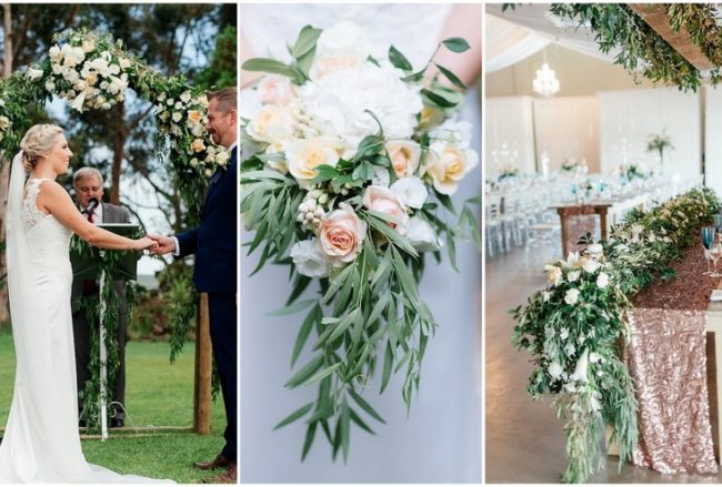 Peach + Copper Romance: Eensgezind Durbanville Wedding {Debbie Lourens Photography}