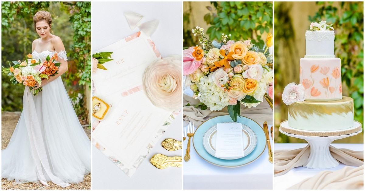 Peach Pink And Gold Summer Wedding Ideas For Your Outdoor Celebration