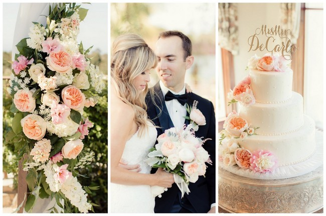 Perfectly Picturesque Peach & Pink Palos Verdes Wedding {Figlewicz Photography}