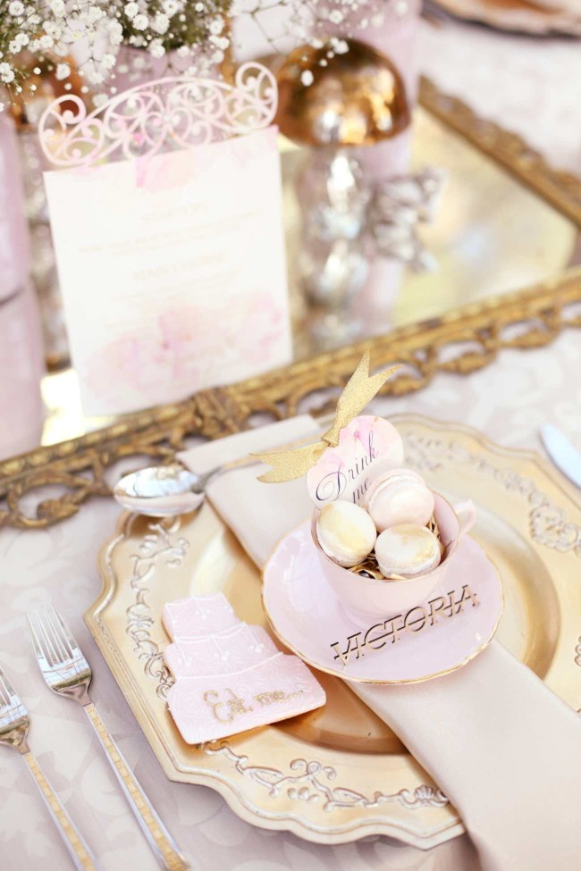 Pink Alice in Wonderland Wedding 60