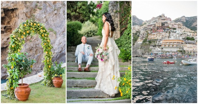Positano Destination Beach Wedding, Italy {Rochelle Cheever Photography}