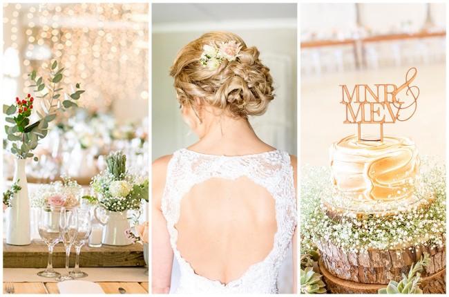 Pretty Pastel Riebeek Valley Wedding {Christine Le Roux Photography}