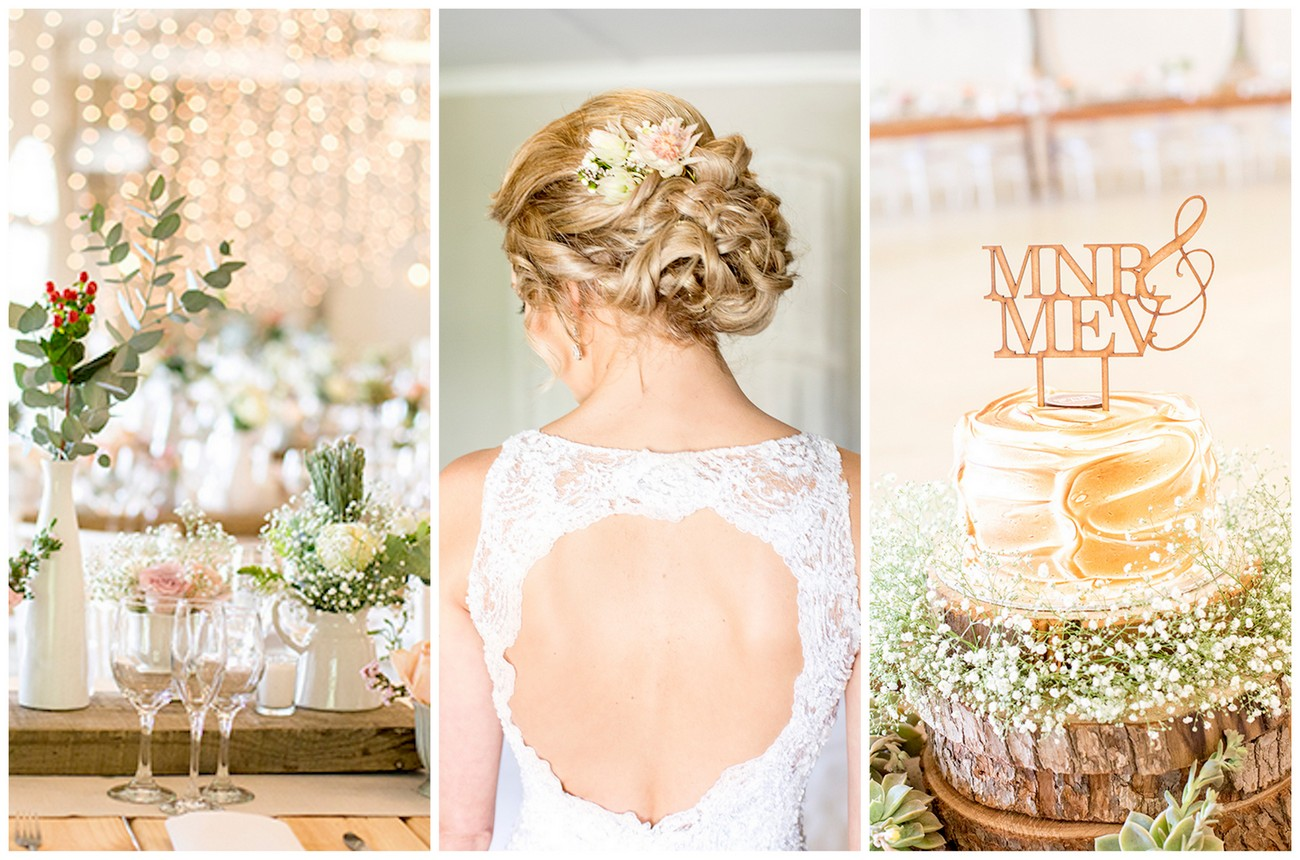 Pretty Pastel Riebeek Valley Wedding {Christine Le Roux Photography}