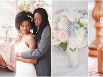 Rose Gold Ivory Glitter Wedding  2