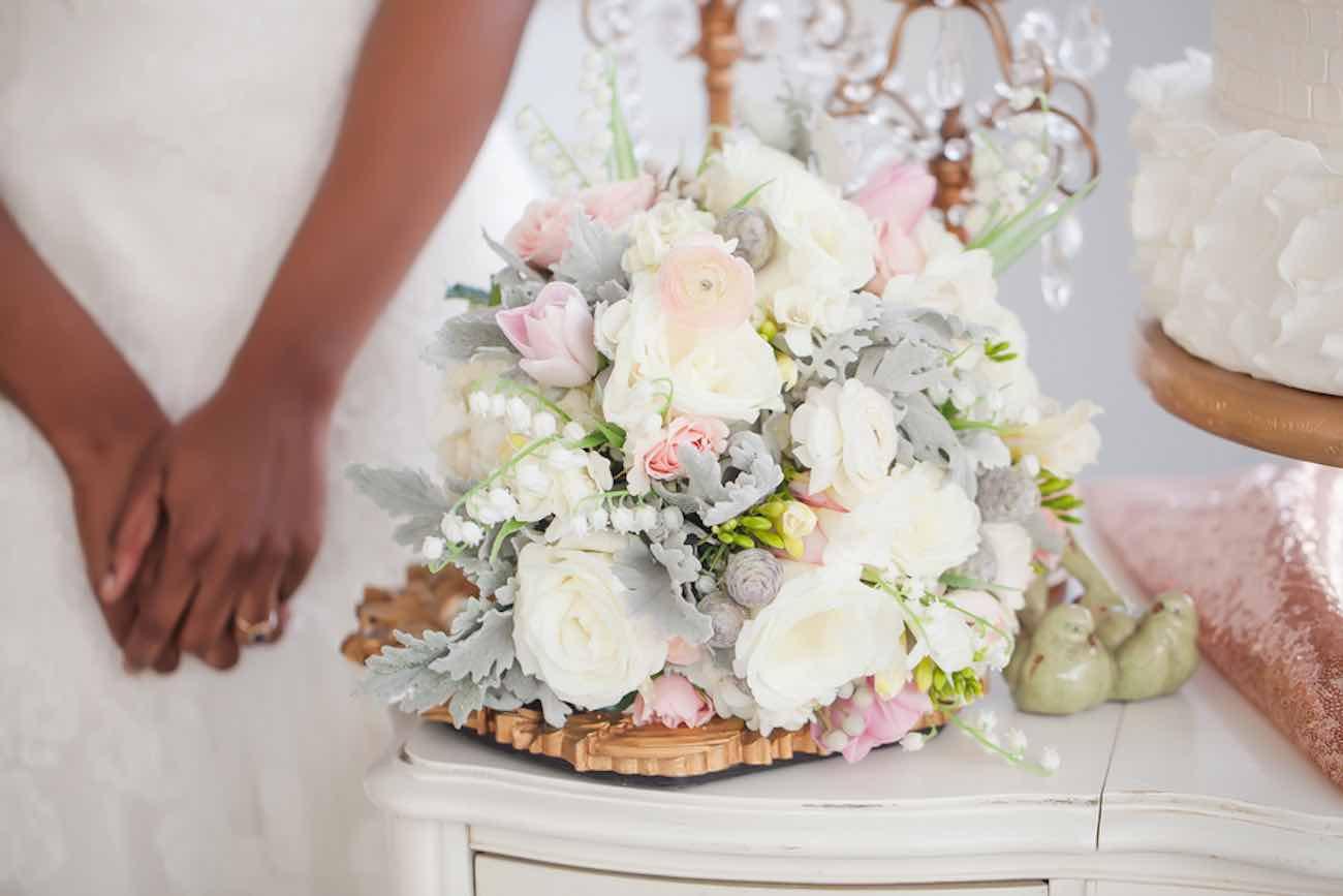 Beautiful Rose, Gold + Ivory Glitter Wedding Ideas {Casey ...