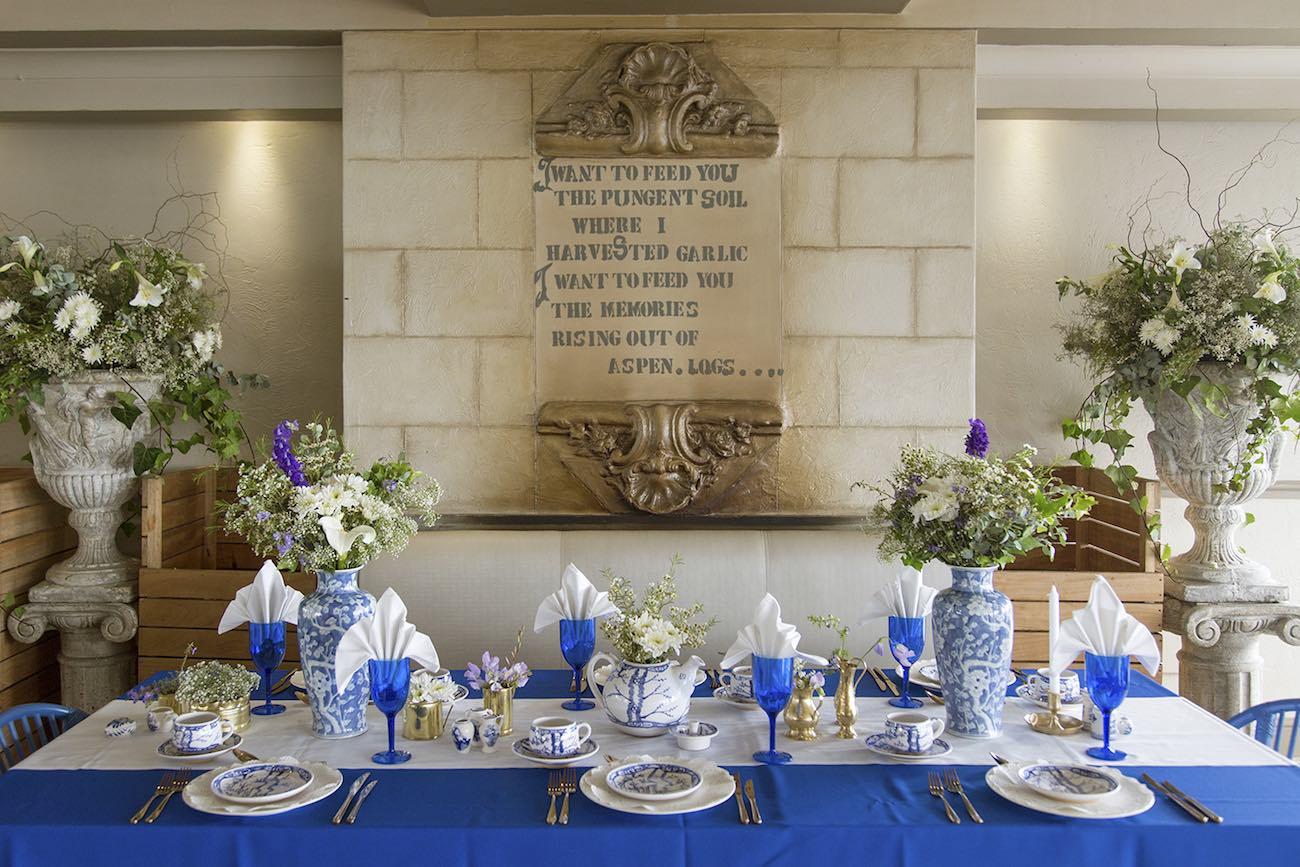 Royal Blue, Gold + White Grecian,Inspired Wedding Ideas