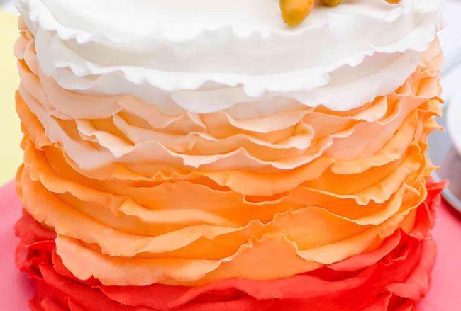 25 Ombre & Ruffle Wedding Cake Wonders