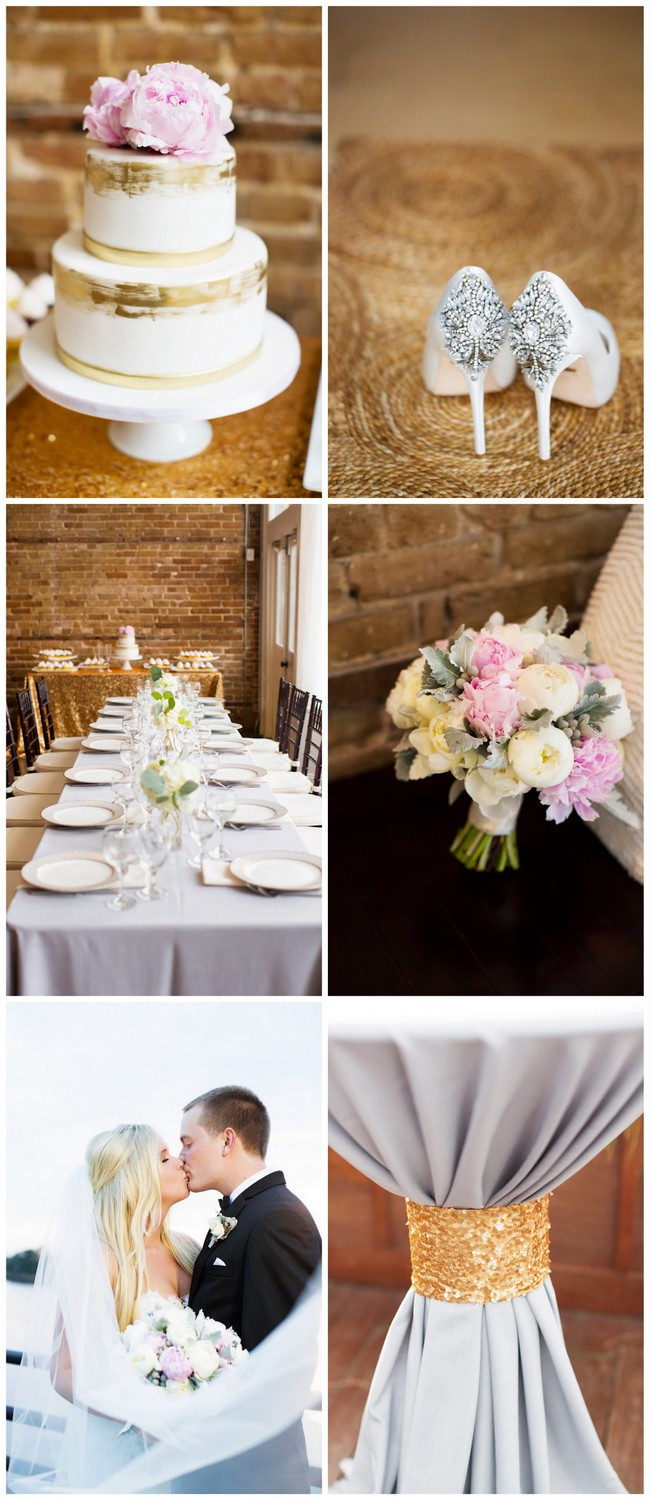 This Soft Blush and Gold North Carolina Wedding is filled with classic romance - and peonies! Magnolia Photography