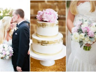 This Soft Blush and Gold South Carolina Wedding is filled with classic romance - and peonies! Magnolia Photography