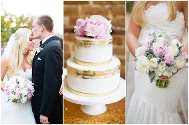 Soft Blush + Gold North Carolina Wedding {Magnolia Photography}