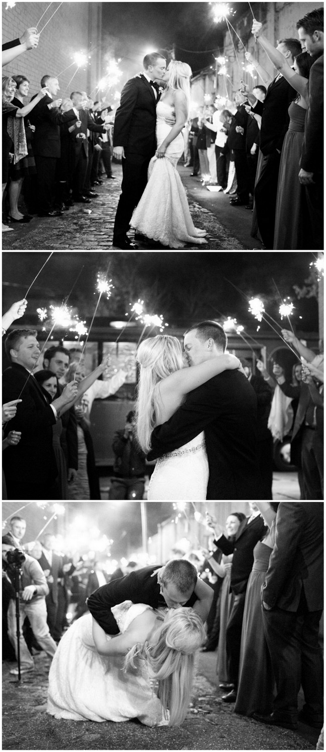 Dreamy sparkler send off! Captured by Magnolia photography