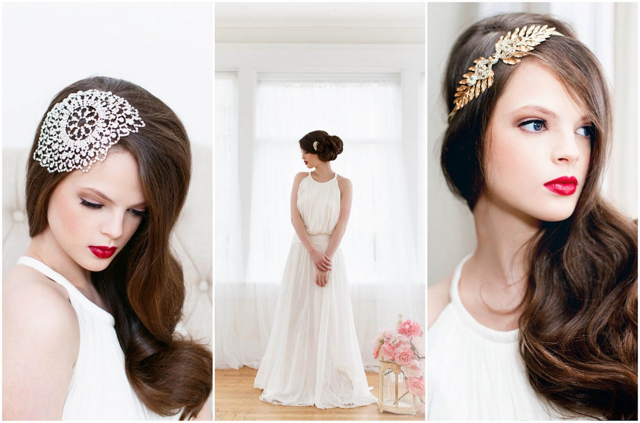 Beautiful Bridal Hair Accessories from Sparrow Station {La Candella Photography}