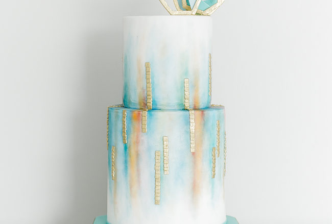 Ethereal Watercolour-Inspired Teal and Gold Wedding Ideas {Chenel Kruger Photography}