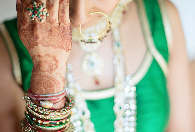 Dazzling Traditional Hindu Wedding Ceremony in Emerald + Red {CJ Smith}