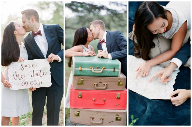 The Cutest Travel Themed Engagement Photo Ideas {Bowtie and Bloom Photography}