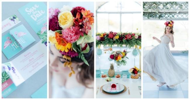 Gorgeously Whimsical Tropical Wedding Ideas {Debbie Lourens Photography}