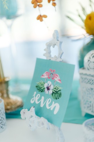 Tropical wedding table number. Click for the most absolutely gorgeous Tropical Wedding ideas ever!
