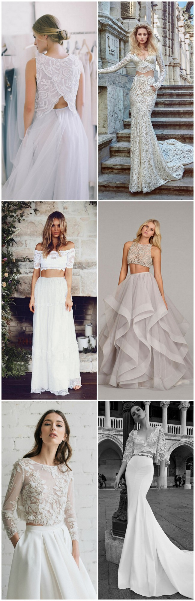 e0e3ab6ea6eb1 Possibly the Most Epic Selection of Two Piece Wedding Dress Bridal ...