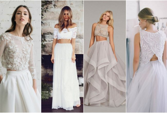Possibly the Most Epic Selection of Two Piece Wedding Dress Bridal Separates Ever Designed!