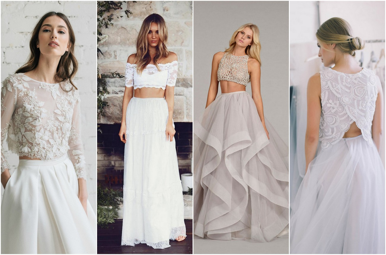 Two Piece Bridal Gown Separates