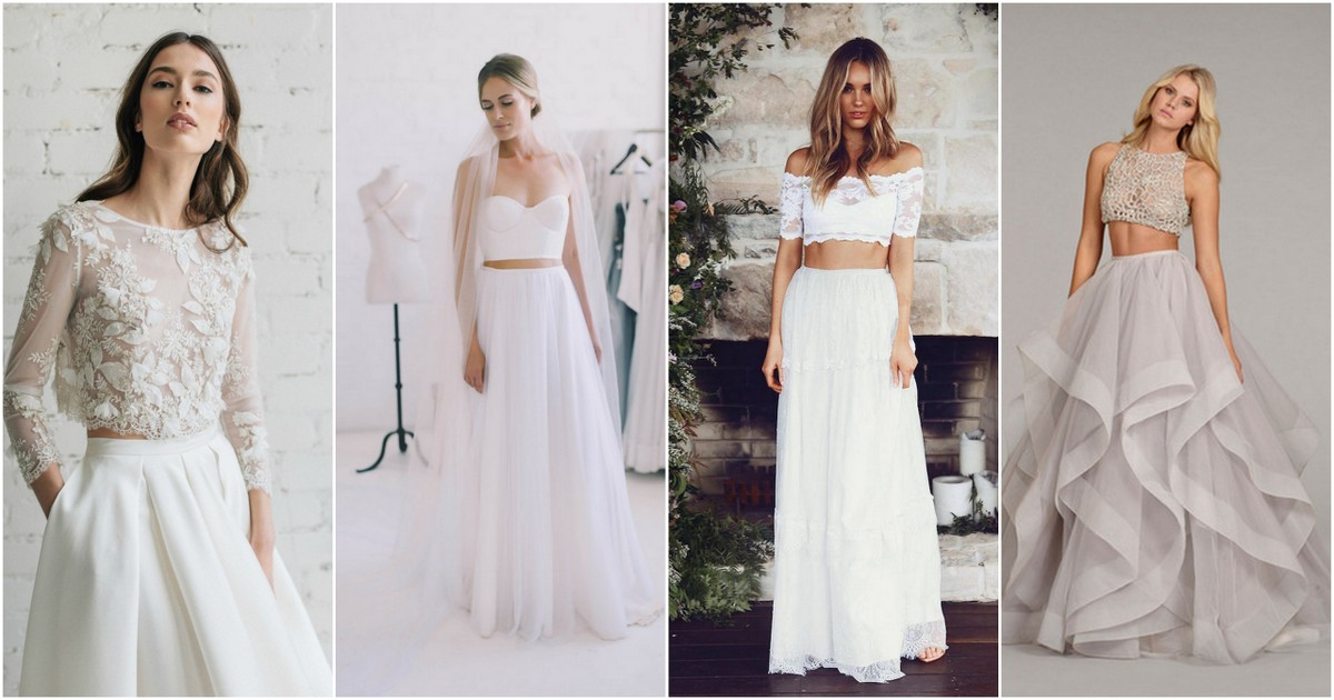 Possibly the Most Epic Selection of Two Piece Wedding Dress Bridal ...