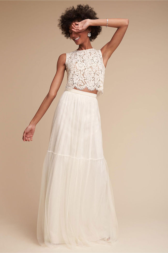 Two Piece Wedding Dress