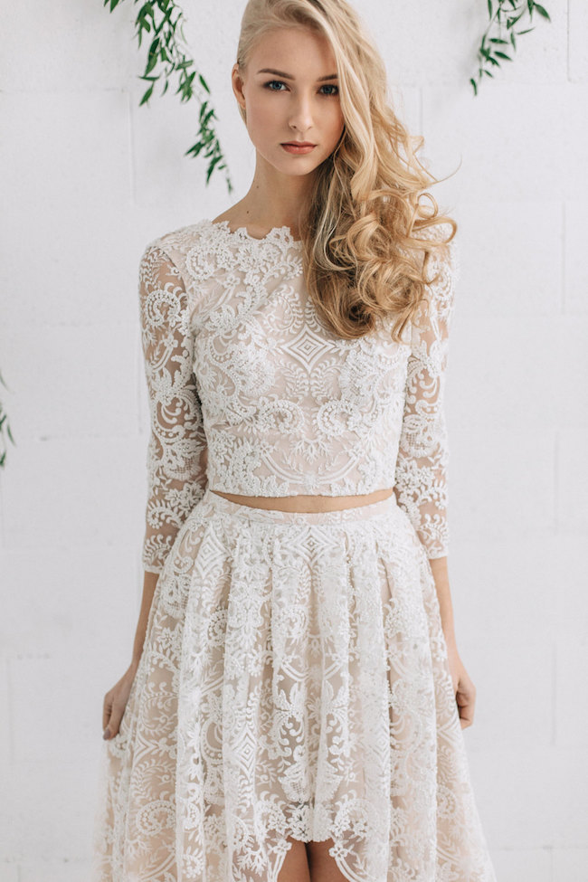 Possibly The Most Epic Selection Of Two Piece Wedding Dress Bridal