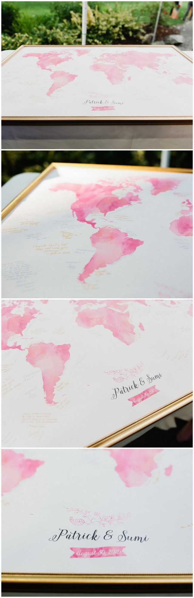 Water color Map Guest Book