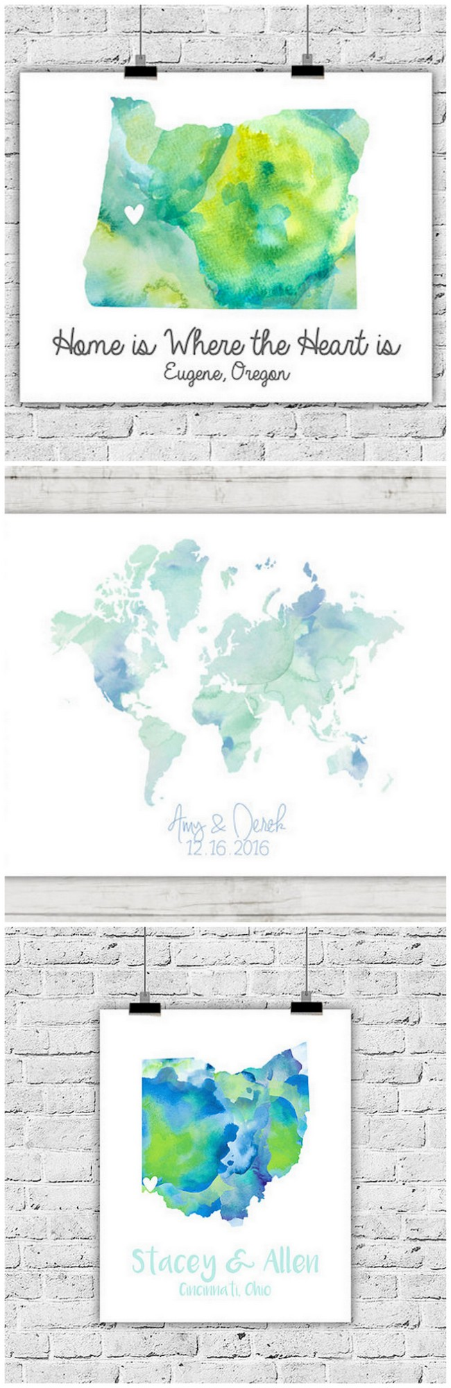 Seriously adorbs wedding map guest book ideas. Click for even more ideas.