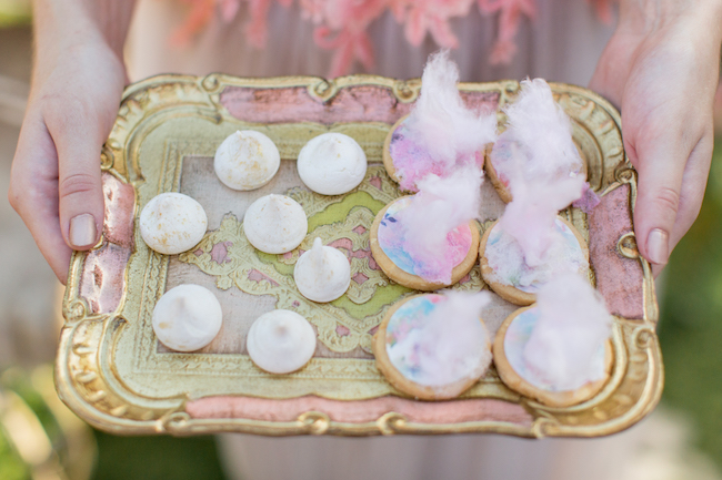 Whimsical Coral Garden Wedding Elopement Dessert Ideas
